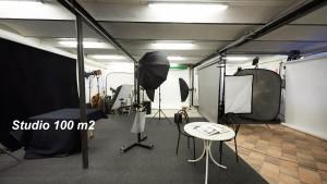 Indendørs i det nye store studie på Oldvejen 5 hos fotograf Peter Dahlerup