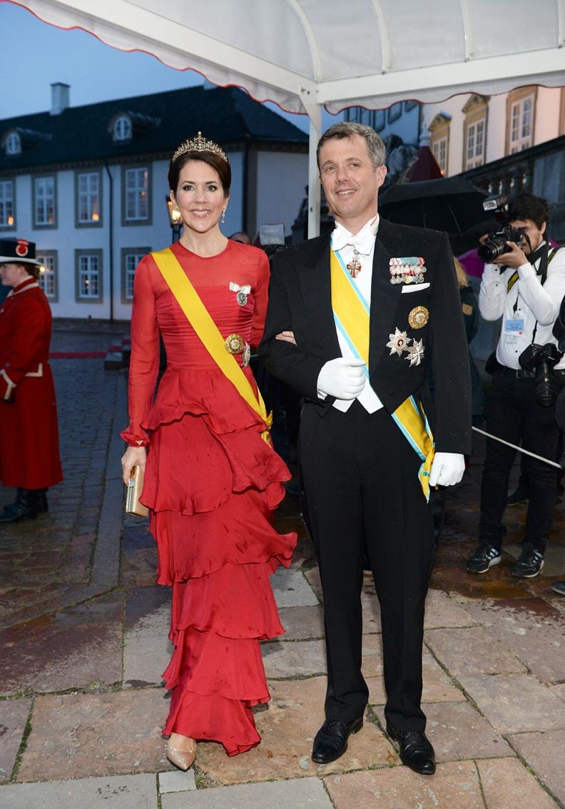 Kronprinsparret i Blå Port på Fredensborg Slot
