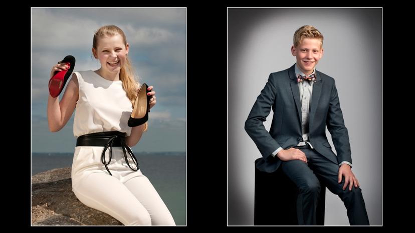 flotte konfirmandfotos på konfirmandfoto-tilbud hos fotograf i Fredensborg Peter Dahlerup