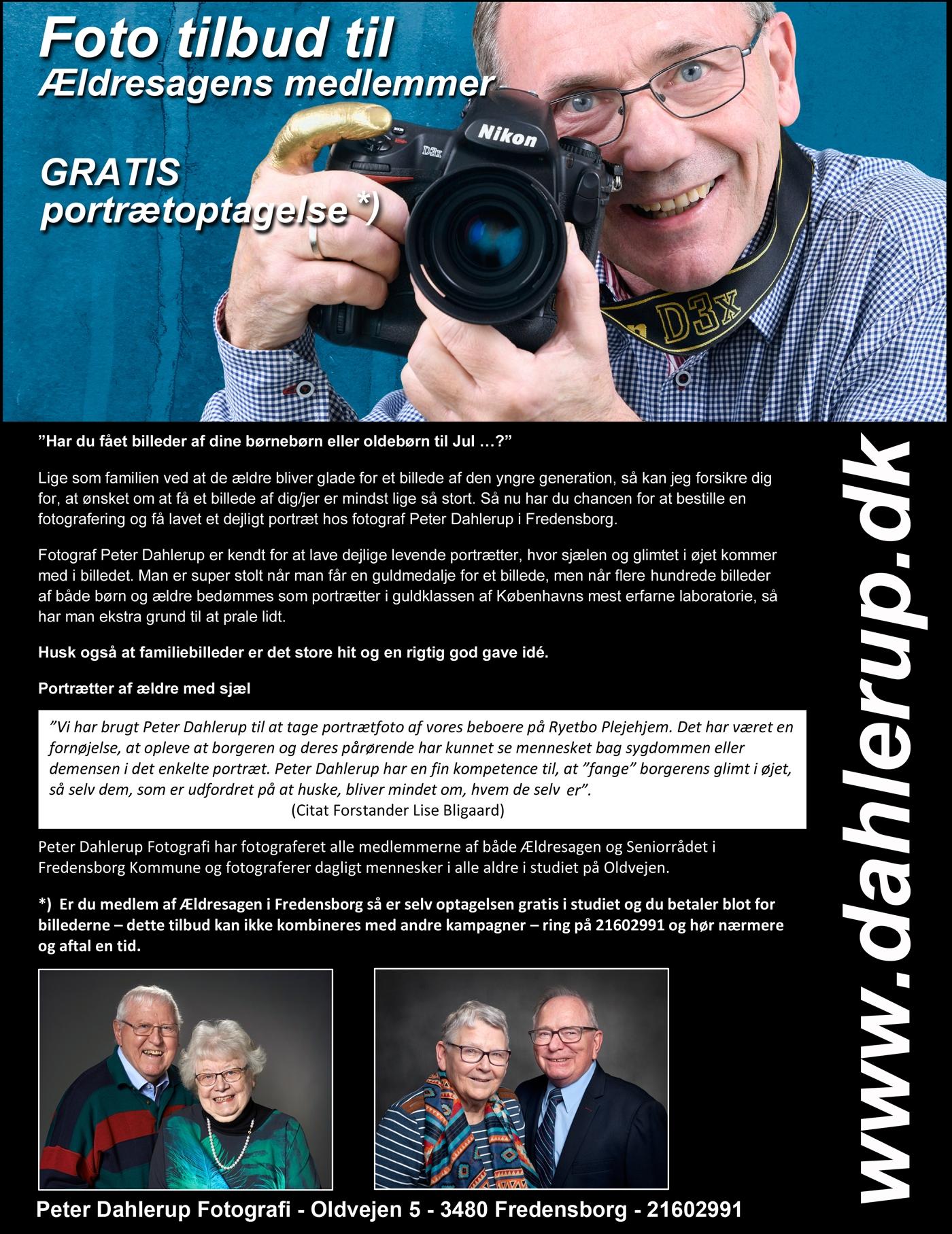 Gratis fotografering til de ældre