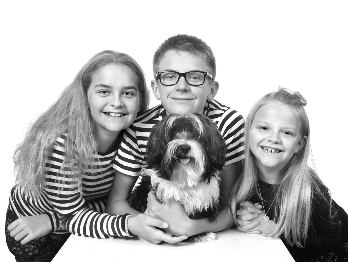 Børnehavefoto på tilbud i studiet hos fotograf Peter Dahlerup i Fredensborg midt i Nordsjælland