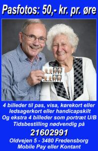Pasfoto, billeder til kørekort, visa, ledsagerkort eller handicapskilt o.l. Tidsbestilling er nødvendig på 21602991
